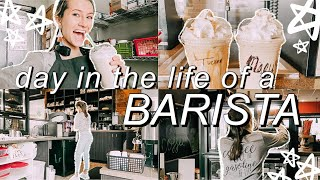 work with me as a BARISTA! || day in the life of a barista