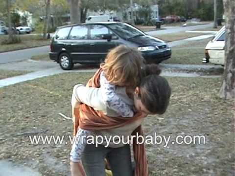 Back Wrap Cross Carry with a 4 year old from Wrap Your Baby