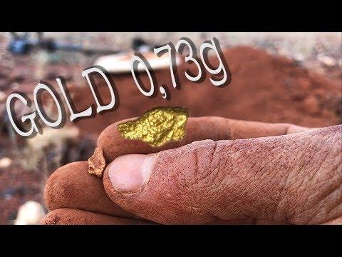 Gold prospecting Australia GPZ7000 metal detecting 0,73g nugget