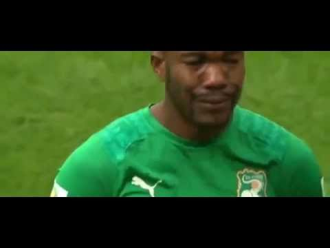 RESPECT  Serey Die Crying during Ivory Coast Anthem vs Colombia 2014