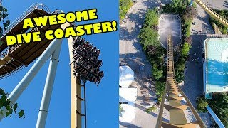 AWESOME Dive Roller Coaster! Valkyria Multi-Angle POV Liseberg Sweden