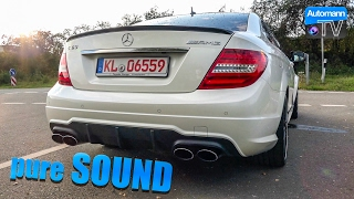 Mercedes C63 AMG Coupé 6.2 V8 - pure SOUND (60FPS)