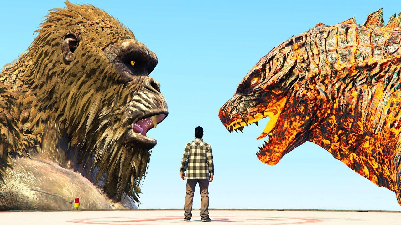 Download GODZILLA vs KONG (GTA 5 DESTRUCTION)