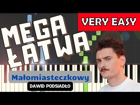 🎹 Małomiasteczkowy (D. Podsiadło) - Piano Tutorial (MEGA ŁATWA wersja) 🎹