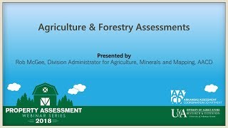 Arkansas Agriculture & Forestry Assessments