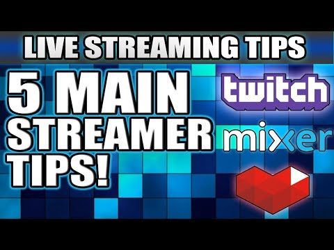 5 Tips To Get Noticed | Mixer, Twitch, YouTube Gaming | (Live Streaming Tips #01)