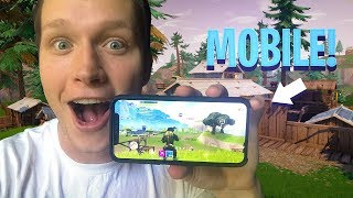 MY FIRST FORTNITE: BATTLE ROYALE MOBILE GAMEPLAY! *INSANELY HARD*