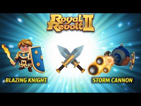 Royal Revolt 2 - Troop Combo: Blazing Knight + Storm Cannon!