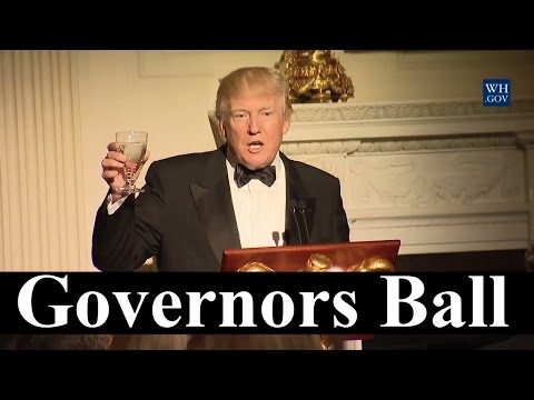 President Donald Trump Governor's Ball Speech and First Lady Melania Host the Governors 2-26-2017