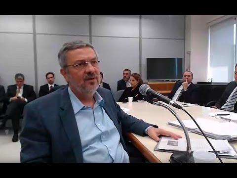 Depoimento de Antonio Palocci ao juiz Sérgio Moro, na Lava Jato   Íntegra