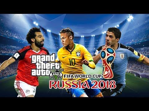GTA 5 : FIFA World Cup Mod W/ Neymar Jr , Mohamed Salah , Luis Suarez | GTA V Mods Gameplay