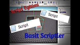 Roblox Studio Script Eğitimi (Basit Kodlama)