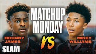 Bronny James vs Mikey Williams: Which Freshman you taking!? SLAM Matchup Monday 🍿