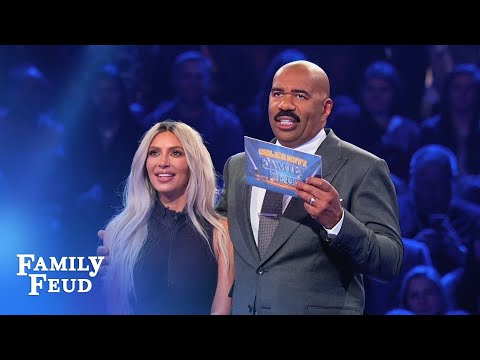 Kim & Kanyes INCREDIBLE Fast Money!  Celebrity Family Feud