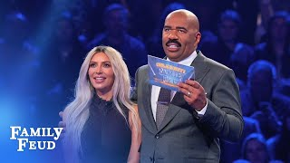Kim & Kanye's INCREDIBLE Fast Money! | Celebrity Family Feud