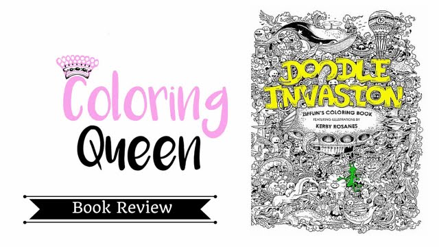 Doodle Invasion Coloring Book Review : Doodle Invasion Adult Coloring Book Review YouTube
