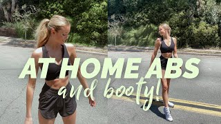 Workout with Me! AT HOME ABS & BOOTY TONING | Hannah Godwin