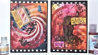 Doctor Who & Twin Peaks  Inspired Cards // Mixed Media!