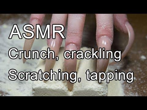 ASMR sound crunch, crackling, scratching, long nails