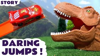 Disney Cars Toys & Hot Wheels Superheroes Dinosaur Daring Jump Toy Story McQueen Race TT4U