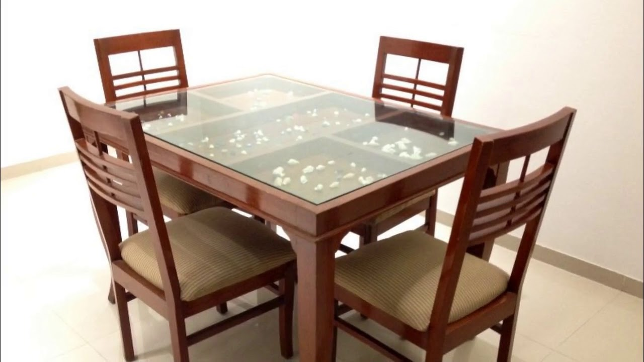Glass Top Dining Table With Wooden Base Youtube - Glass-topped-dining-room-tables