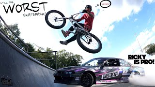 It's Still The Worst Skatepark Ever.. But Ricky Is The Man At Drifting!