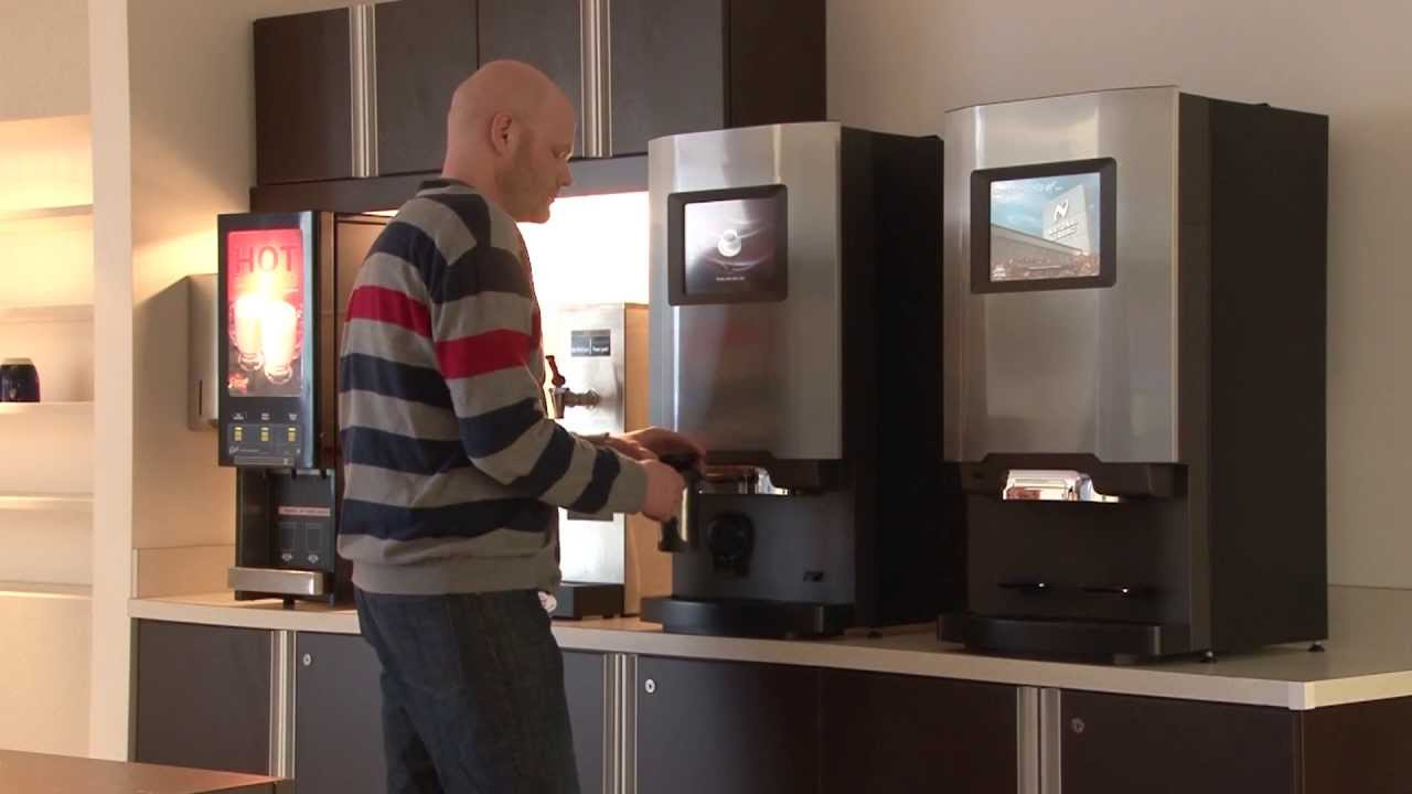 de Jong Duke Coffee Machine - Virtu 90 Series Bean to Cup Coffee Brewer - YouTube