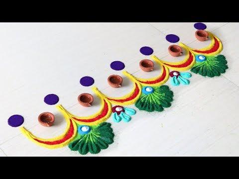 Make Easy Doorstep Rangoli For Diwali Festival - Sonali Creations