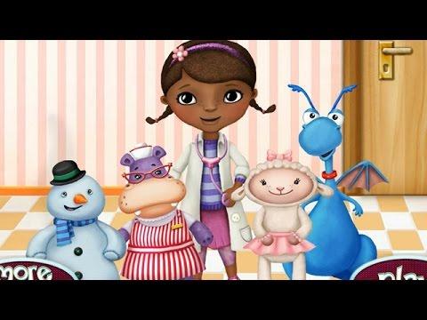 NEW Мультик онлайн для девочек—Доктор плюшева лечит своих друзей—Игры для детей