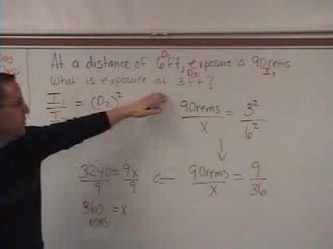 Rad 7 Inverse Square Law