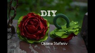 як зробити плоскі троянди зі стрічок