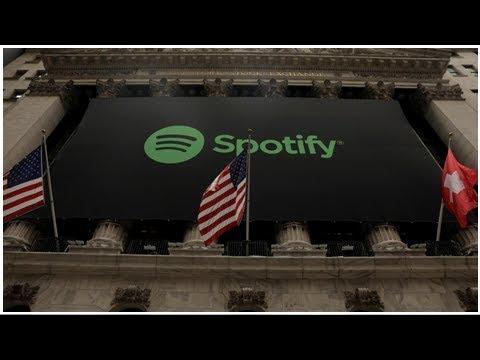 Wall Street déploie un drapeau suisse… pour l'entrée en Bourse de l'entreprise suédoise Spotify