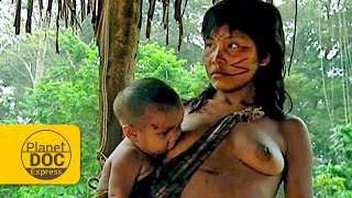 Living in the jungle. Sanema Tribe