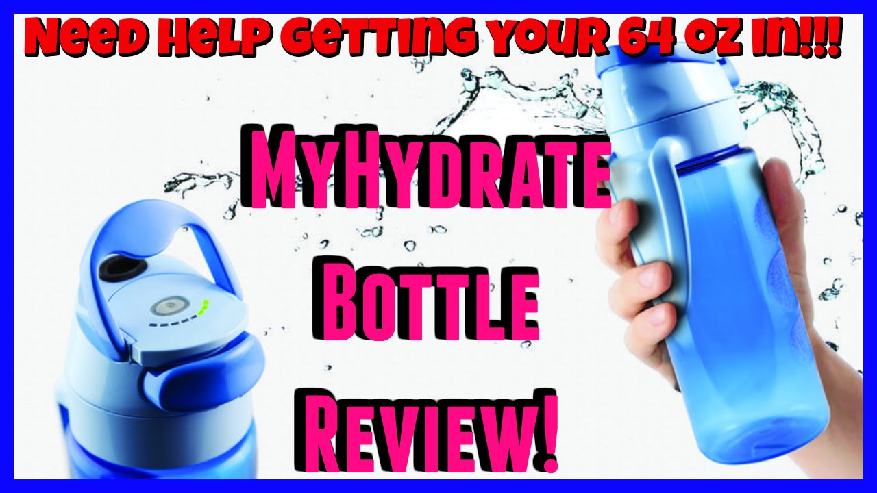 130644cf59 MyHydrate Bottle Honest Review (FLUID INTAKE CUP!) - YouTube