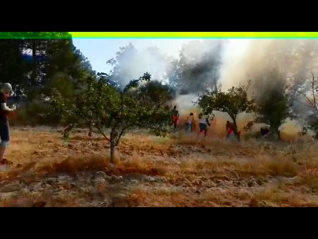 Incendio en Aldeadávila de la Ribera: labores de extinción de los vecinos