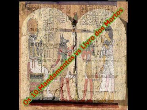 Resultado de imagem para os dez mandamentos X livro dos mortos