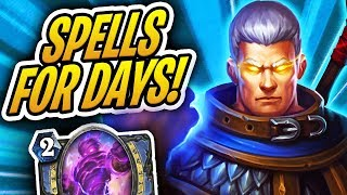 Turns Out Playing 10 Cards on Turn 4 is a Little Strong! | Khadgar Spell Mage | Rise of Shadows | HS