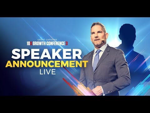 Major Speaker Announcement for 10X Growth Conference 3 - LIVE