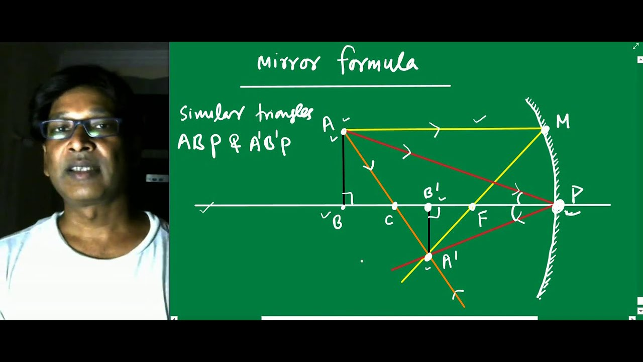 IIT JEE Physics / Geometrical optics / Derivation of Mirror formula by SSI sir / kota faculty / NEET