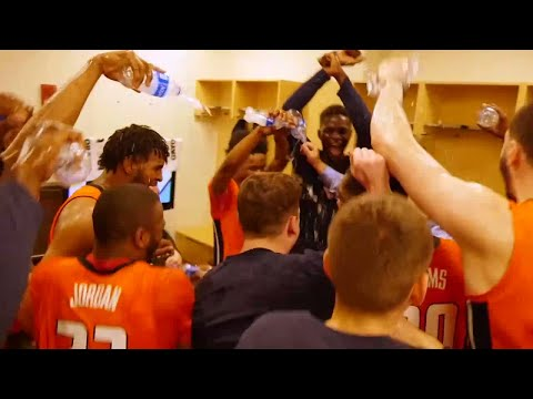 Illini MBB Locker Room Celebration After Maryland Win