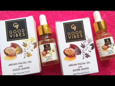 Good Vibes Argan Facial Oils Review|With Gold Leaves|With Si