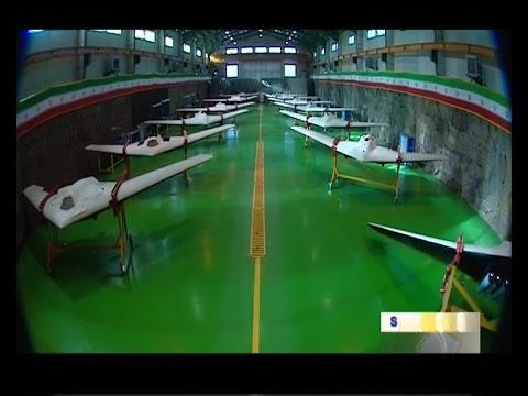 Iran Jet engine UCAV Stealth Bomber dubbed Saeqeh in Military Drones exhibition پهپاد صاعقه ايران