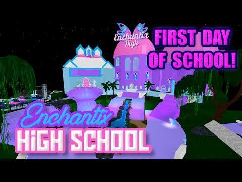 First day of school Roblox Enchantix high Fairies