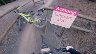 First time at Bikepark Winterberg - Crash/Rain/Fun!