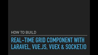 Protein Shakes - Real-time Grid Component Laravel, Vue.js, Vuex & Socket.io