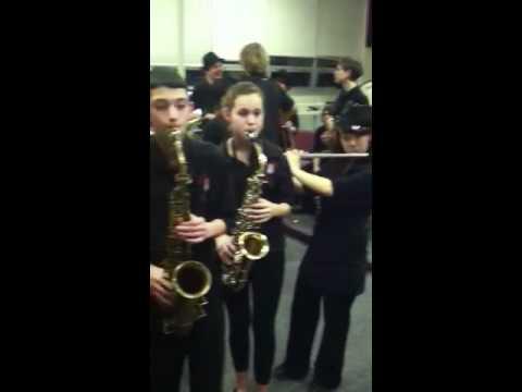 Kingwood Twp jazz students play Eric Mintel's melody Just A