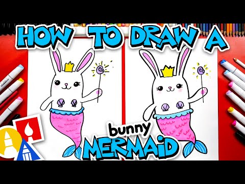 How To Draw A Cute Bunny Mermaid