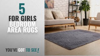 Top 10 For Girls Bedroom Area Rugs [2018 ]: YOH Soft Sofa Area Rugs Girls Room Decor Fluffy Grey