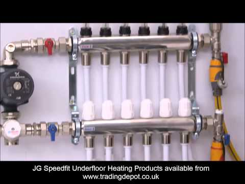 Installing the JG Speedfit Underfloor Heating Manifold