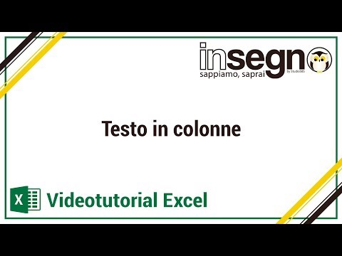 Excel - Testo in colonne